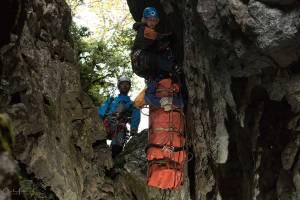 Rescate vertical para sanitario-rescatador